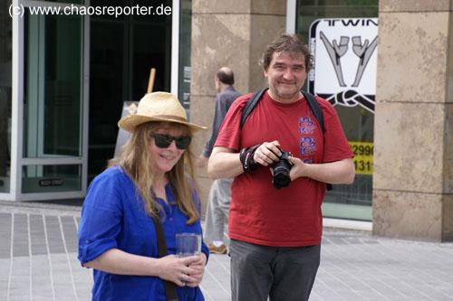 Kerstin Recker (Grafikerin) und Stefan Aschenbrenner (Fotograf)
