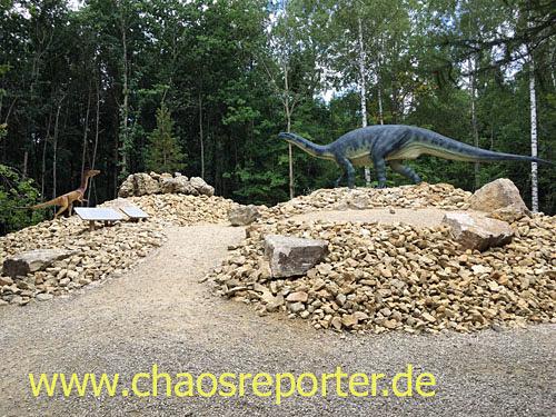 Dinopark in Denkendorf saubere Wege
