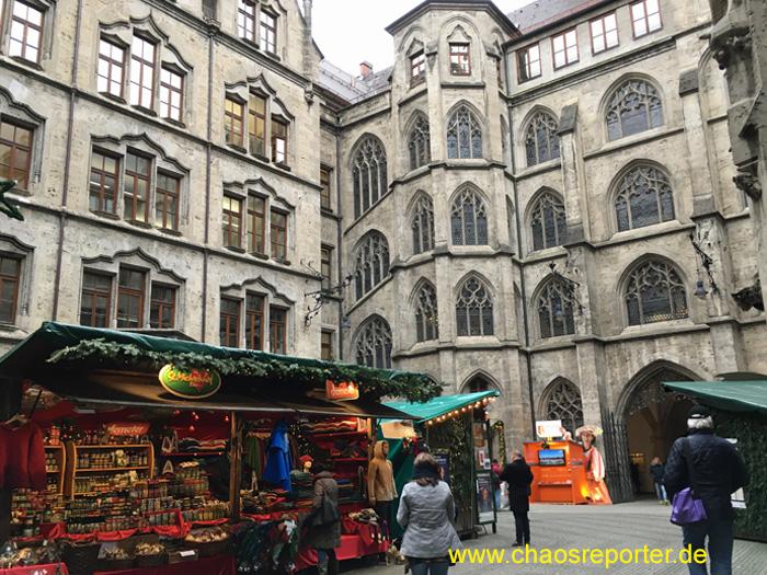 Christkindlmarkt München Rathaus Innenhof