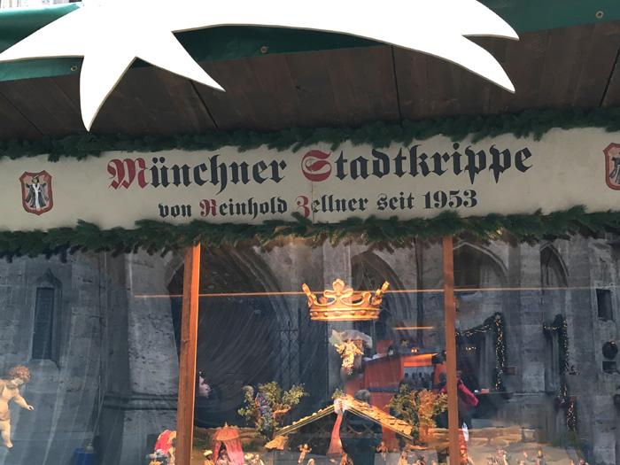 Münchner Stadtkrippe im Innehof des neuen Rathauses München