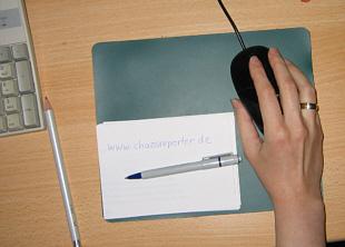 Hand von Chaosreporter Manuela