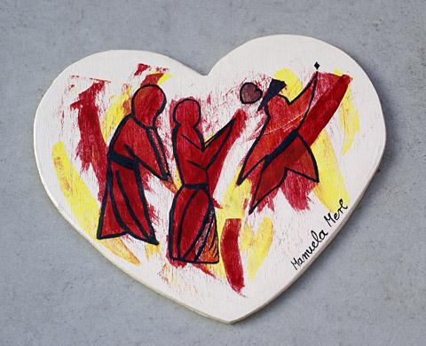 Herztanz Malerei von Manuela Merl