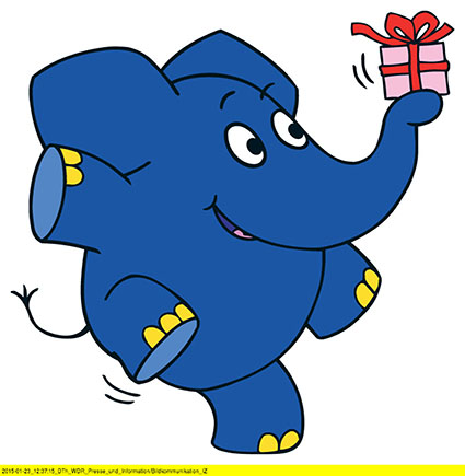ein blauer elefant wird 40 jahre ich gratuliere chaosreporter. Black Bedroom Furniture Sets. Home Design Ideas