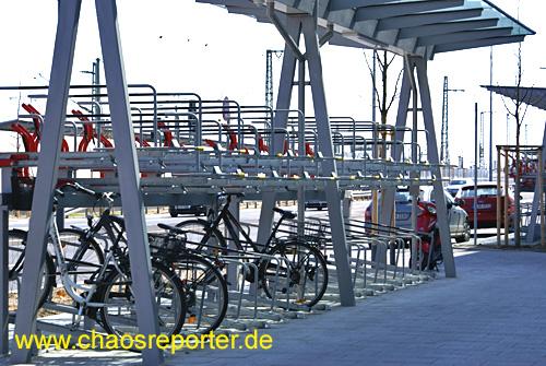 Fahrradständer an der Nordumgehung Pasing (NUP)