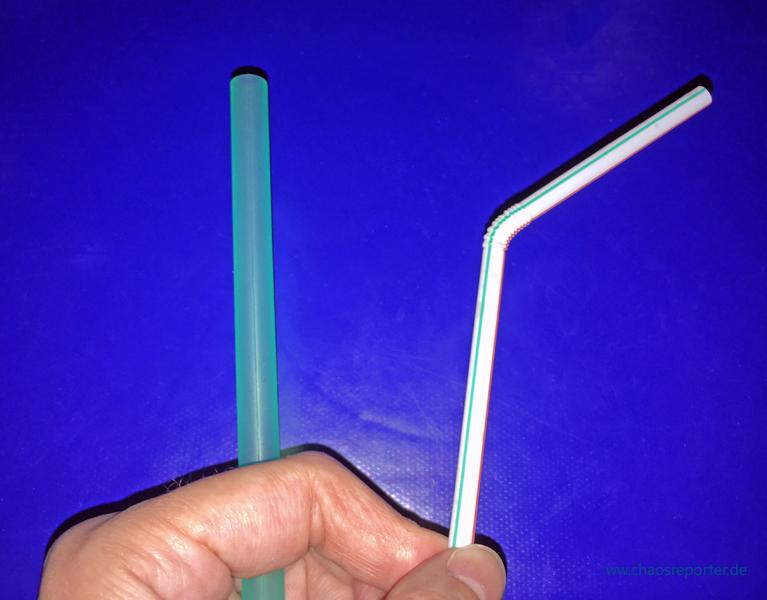 Silikonstrohhalm und Knickstrohhalm aus Plastik welcher ist besser? (c) www.chaosreporter.de