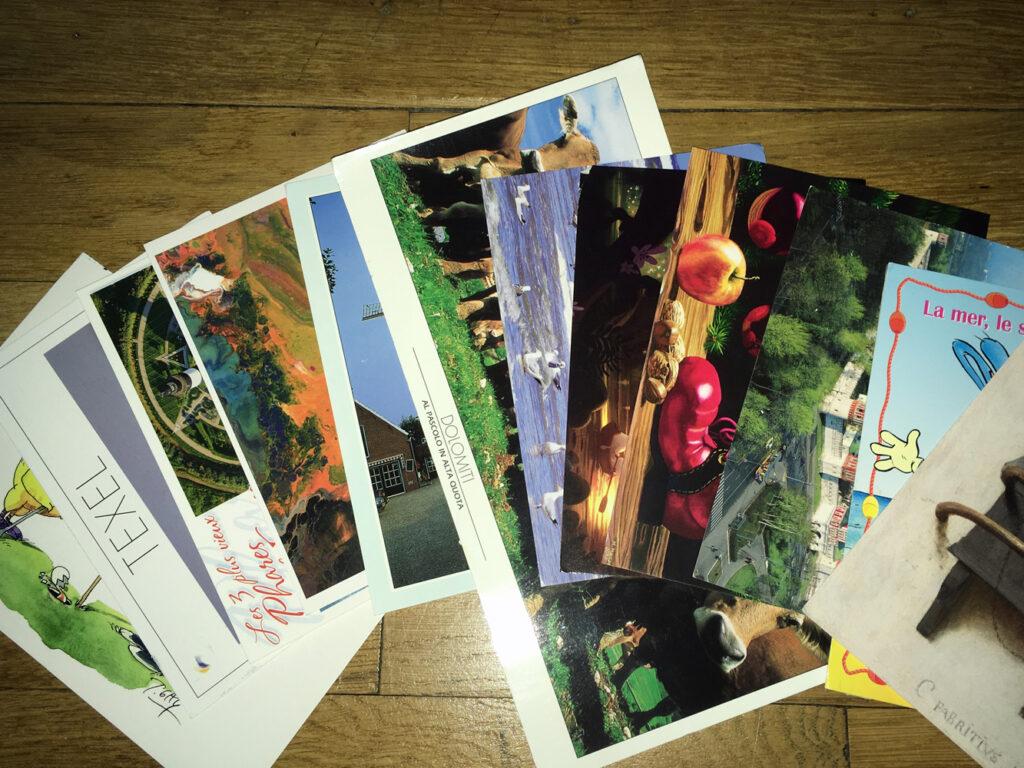 Angekommne Postkarten über Postcrossing