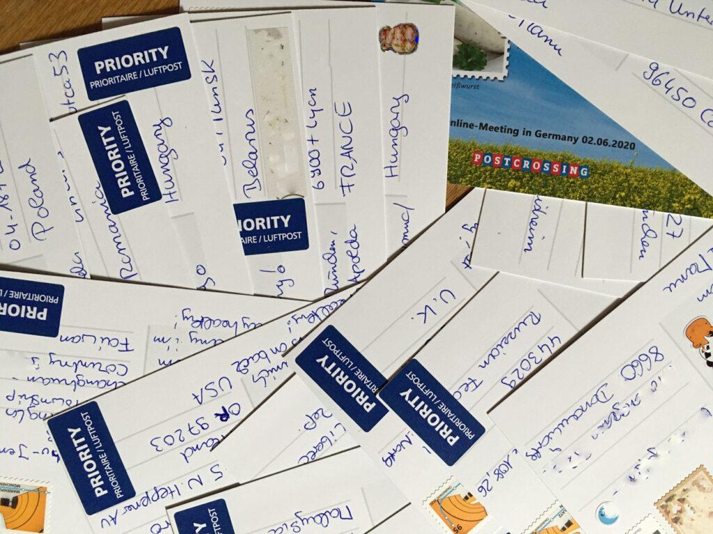 Postcrossing Meetingkarten